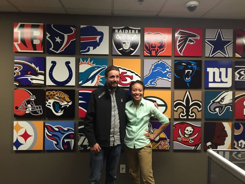 Carmen and I at the NFL Studio in Culver City, 2014