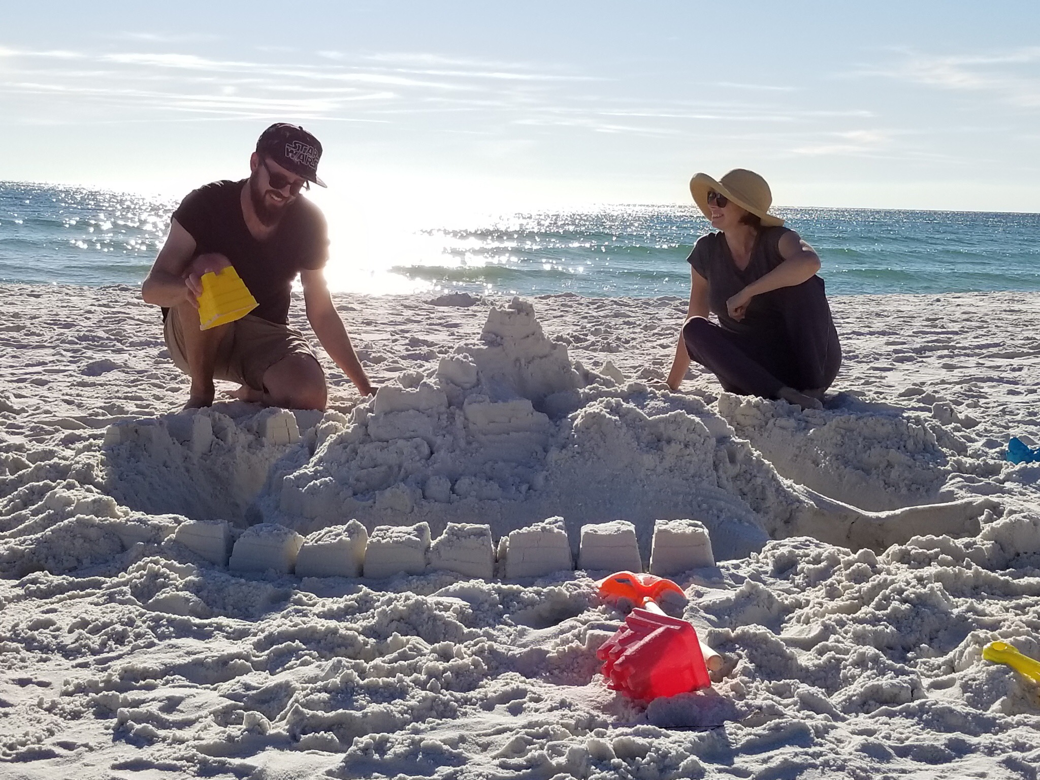 Me and Erin making a sand castle November of 2017